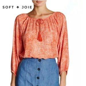SOFT 🔸 Joie Legaspi Tassel Tie Printed Blouse